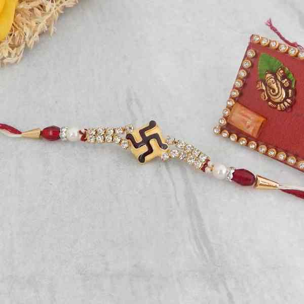 Spiritual Swastik Rakhi - UK Delivery Direct
