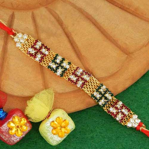 Marvellous Swastik Rakhi - 02 - USA Delivery Only