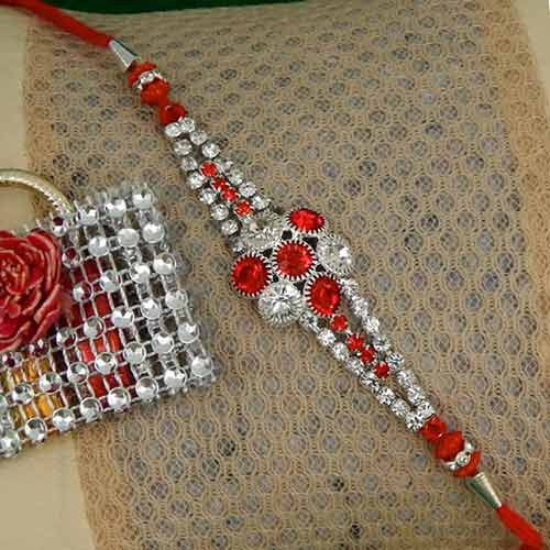 Crystal Beauty Rakhi - USA Delivery Only