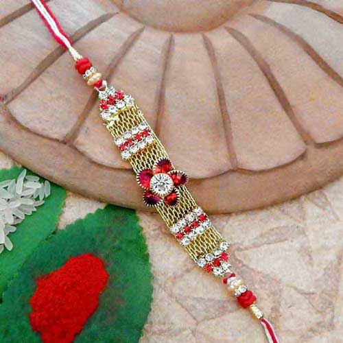 Floral Beauteous Rakhi - USA Delivery Only
