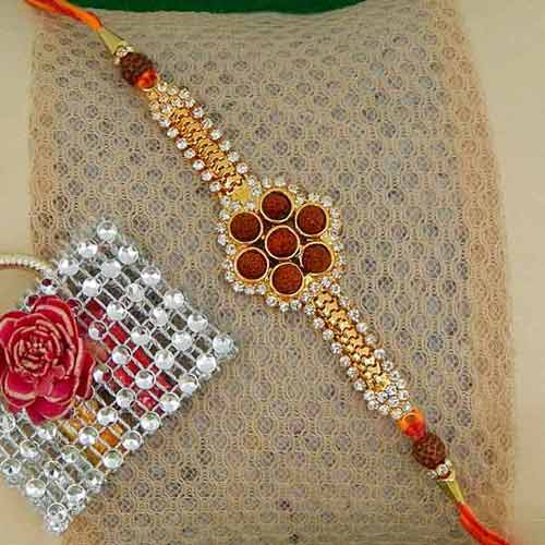 Heavenly Rudraksh Rakhi - USA Delivery Only