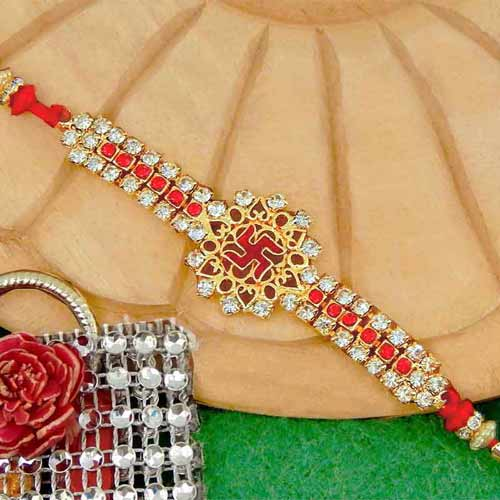 Marvellous Swastik Rakhi - 01 - USA Delivery Only