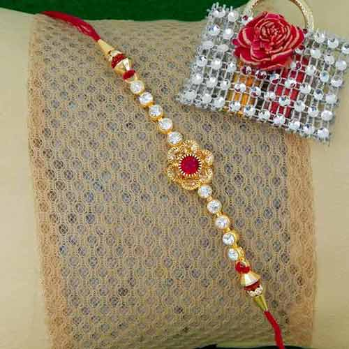 Enticing Floral Rakhi - USA Delivery Only