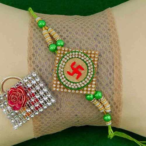 Spiritual Swastik Rakhi - AUSTRALIA Delivery Only