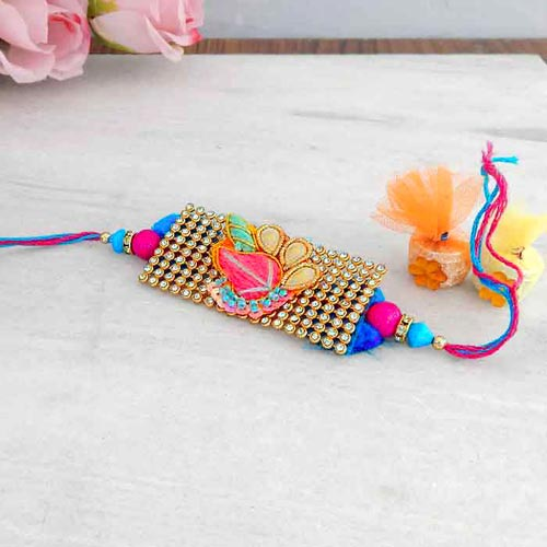 Charming Designer Rakhi - USA Delivery Only