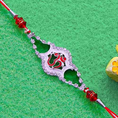 Elegant OM Rakhi - USA Delivery Only