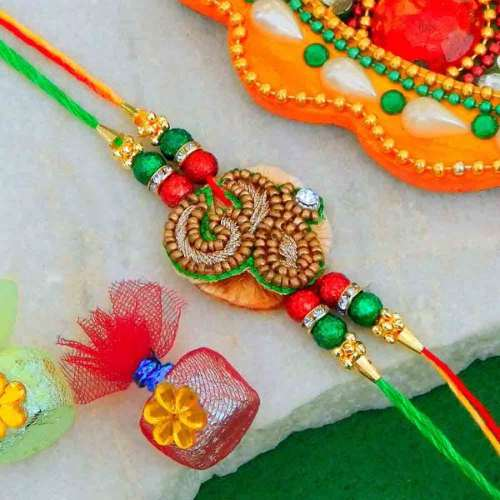 Divine Om Rakhi - 02 - USA Delivery Only