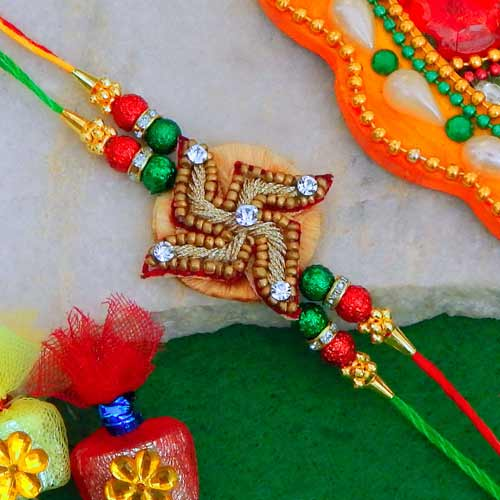 Angelic Swastika Rakhi - USA Delivery Only