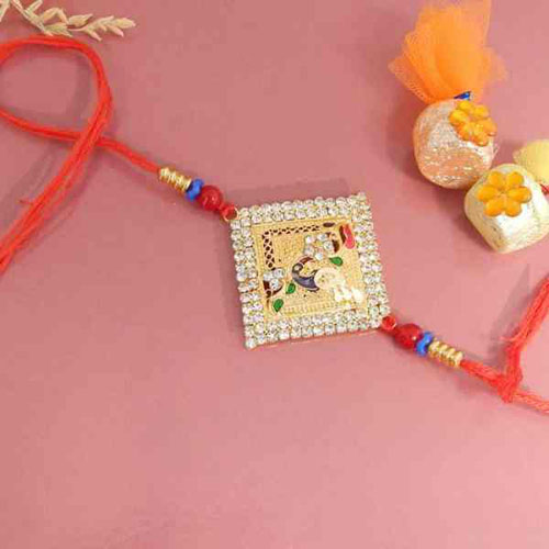 Glittering Stones Rakhi - CANADA Delivery Only