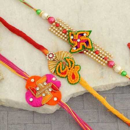 Rakhi Set - 01 - CANADA Delivery Only