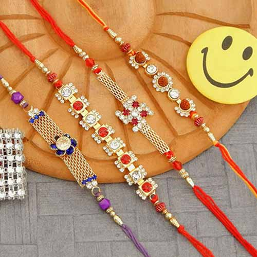 Rakhi Set - 02 - CANADA Delivery Only