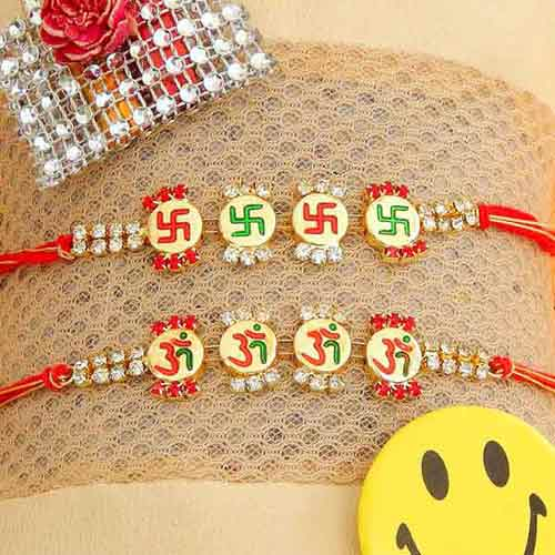 Rakhi Set - 07 - CANADA Delivery Only