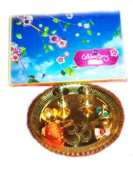 Brass Thali & Cadbury's Celebrations