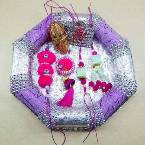 Handmade family Rakhi Tray - 14
