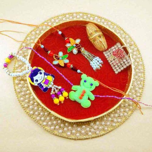 Handmade Family Rakhi Tray - 16