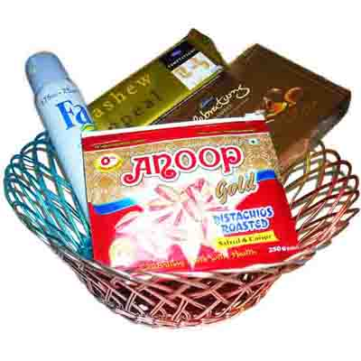 Bhai Dooji Basket Hamper With Deo- India Delivery Only