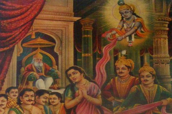 Lord Krishna & Draupadi
