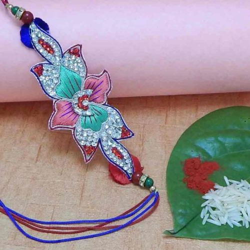 Fancy Diamond Studded Rakhi