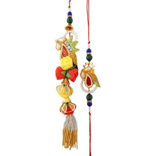 Adorable Rakhi Lumba Set - CANADA Delivery Only