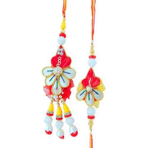 Floral Exotic Rakhi Lumba Set