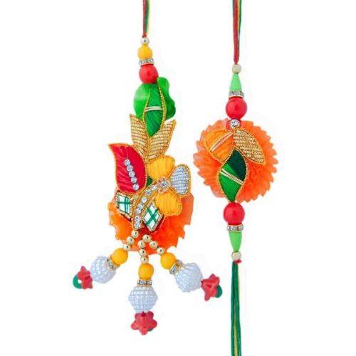 Striking Colors Rakhi Lumba Set