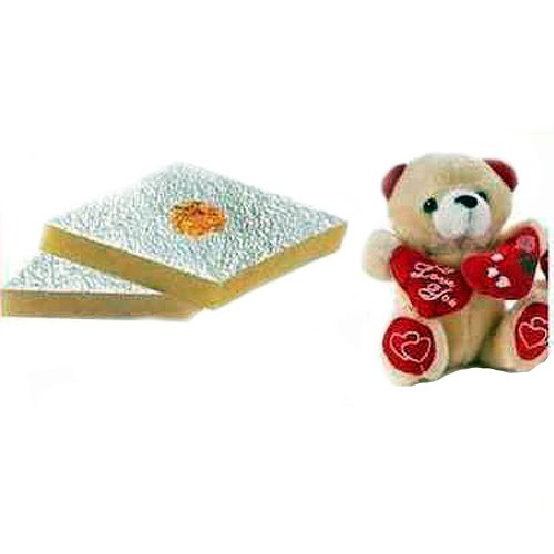 Kaju Katli Soft Toy Rakhi Pack - Small - US Delivery Only