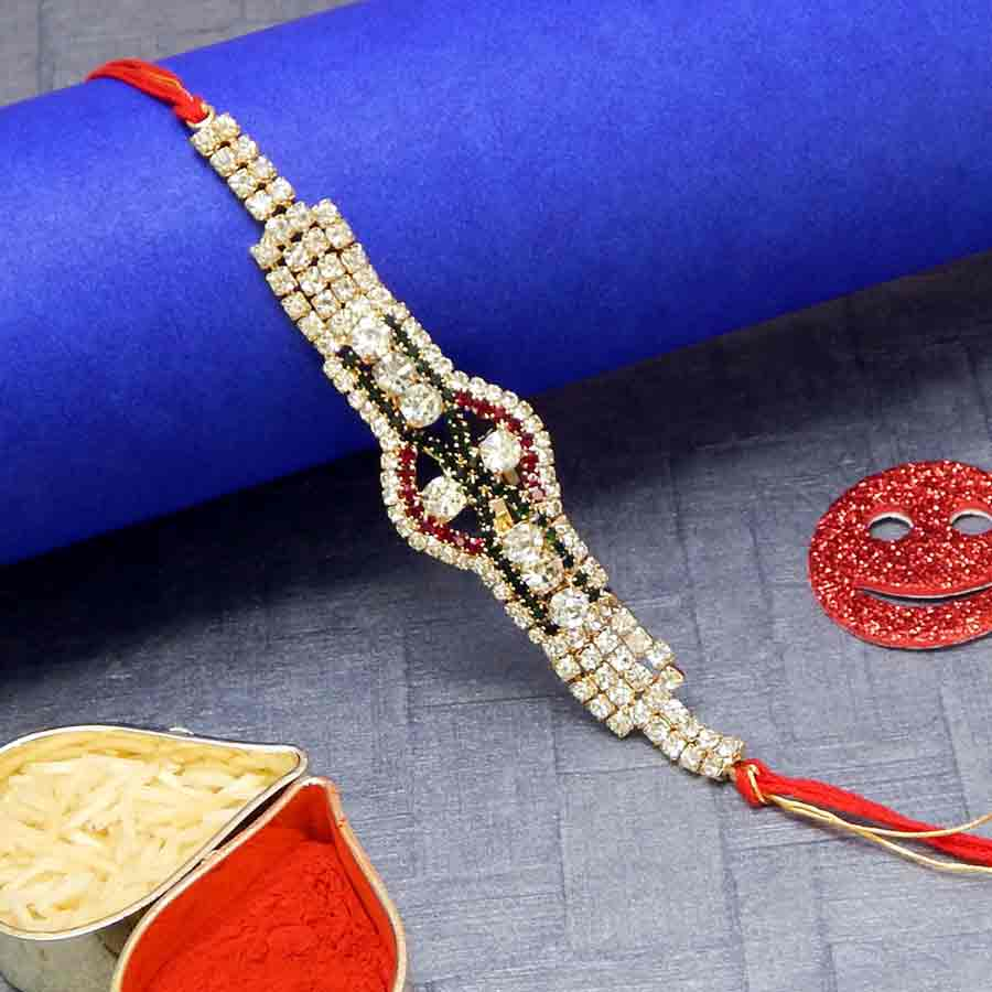 Lustrous Diamond Rakhi