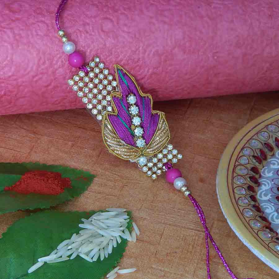 Captivating Resham Thread Rakhi