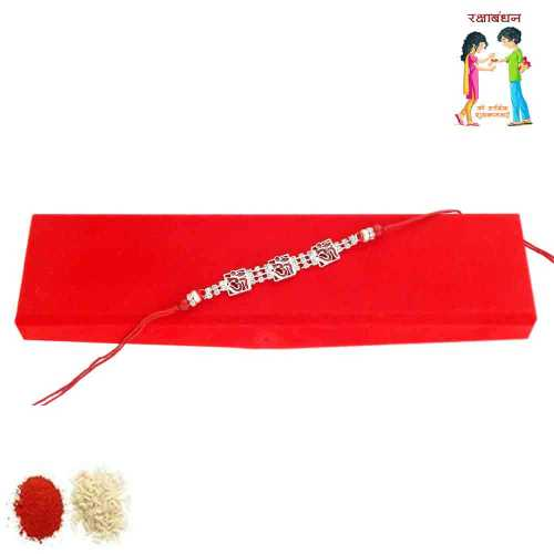Rakhi Endowed With beauty With Rakhi Gift Box