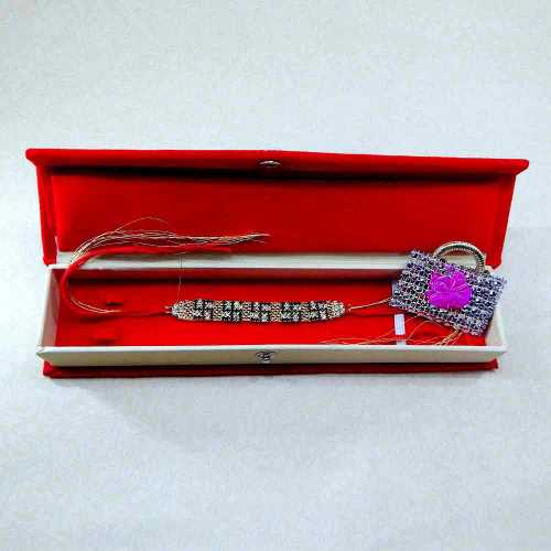 Marvellous Swastik Rakhi - 02 With Rakhi Gift Box