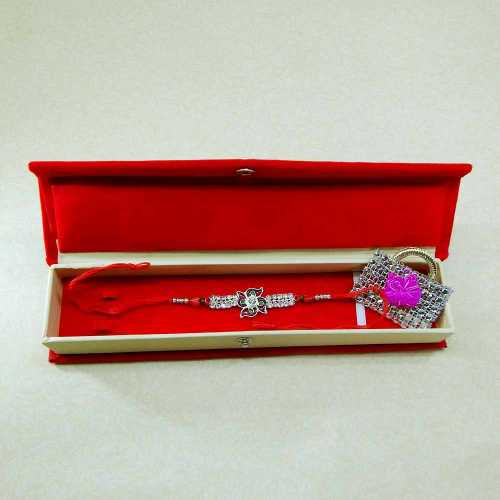 Bewitching Floral Rakhi With Rakhi Gift Box