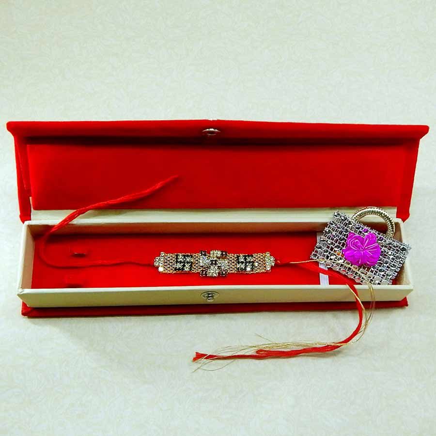 Exceptional Swastik Rakhi With Rakhi Gift Box