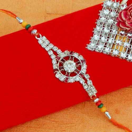 Dial shape diamond Rakhi