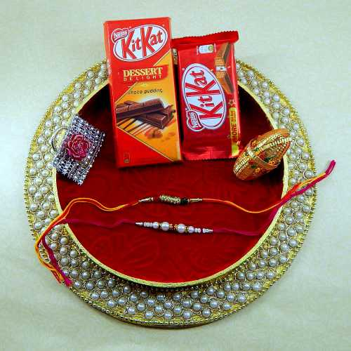 Classy And Attractive Rakhi Thali - Australia Delivery Only