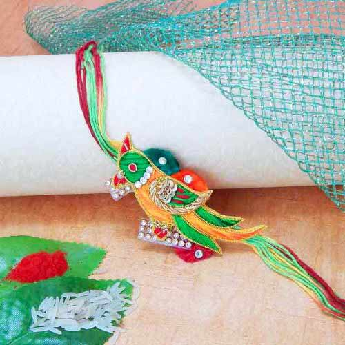 Elegant Bird Rakhi - CANADA Delivery Only