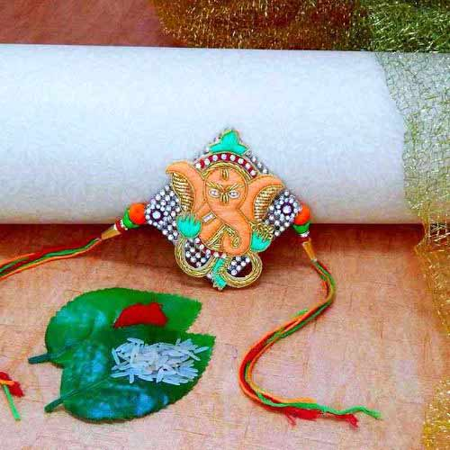 Auspicious Ganeshji Rakhi - USA Delivery Only