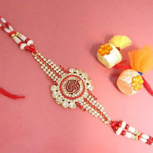 Designer Om Rakhi - UK Delivery Only