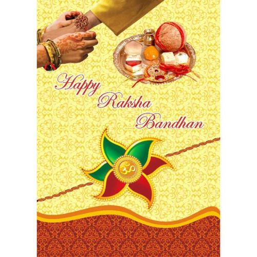 Greetings Card With Rakhi 2