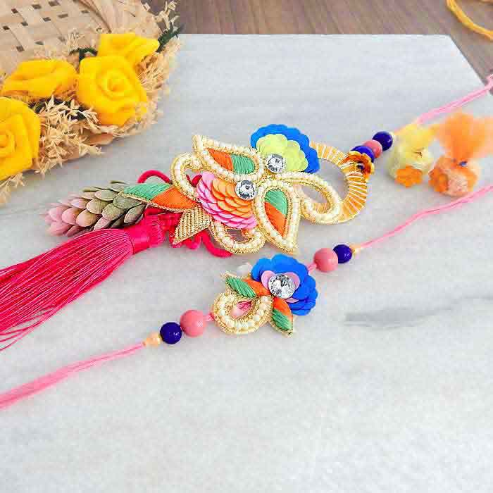 Religious Rakhi Lumba Set - UK Delivery Only