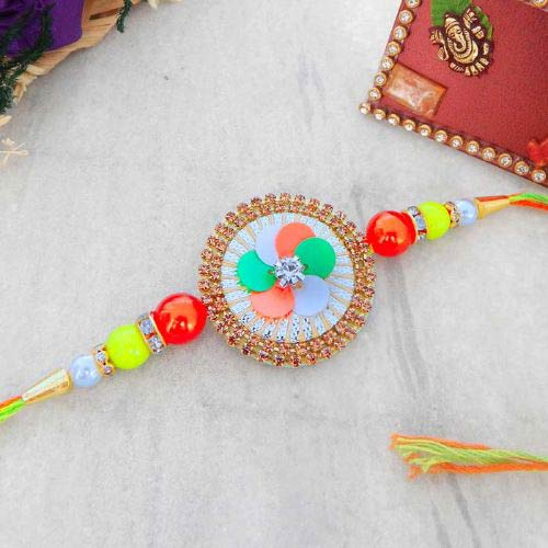 Round Shape Beautiful Designer Rakhi - Canada Delivery Only
