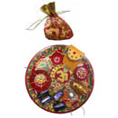 Om Puja Thali With Dry Fruits
