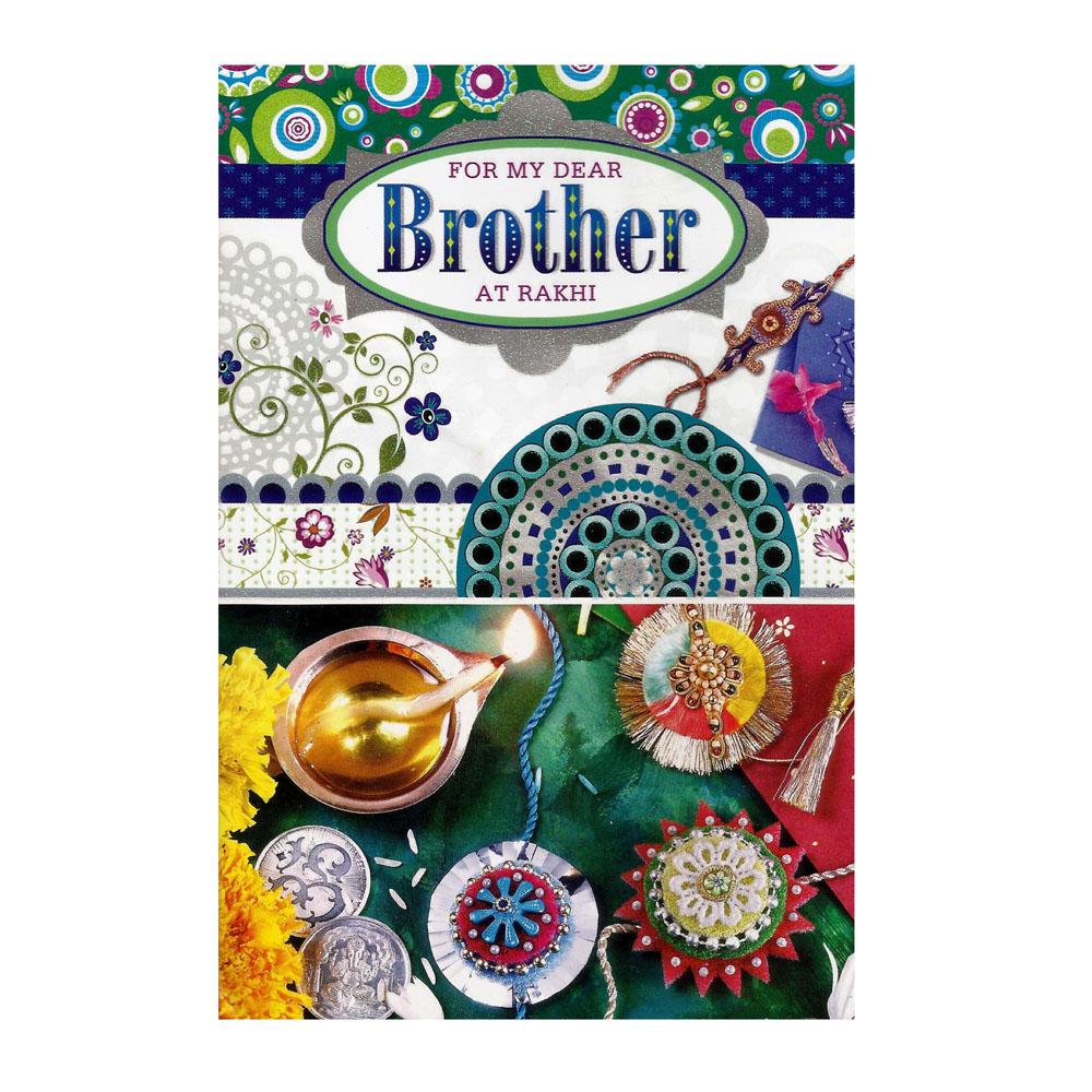 Greeting Card With Rakhi - 1