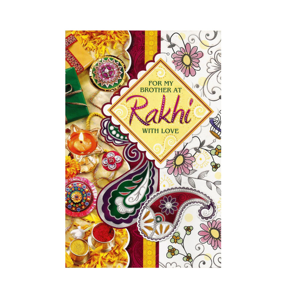 Greeting Card With Rakhi - 2