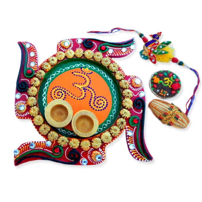 Swastik Om Puja Thali - USA Delivery Only