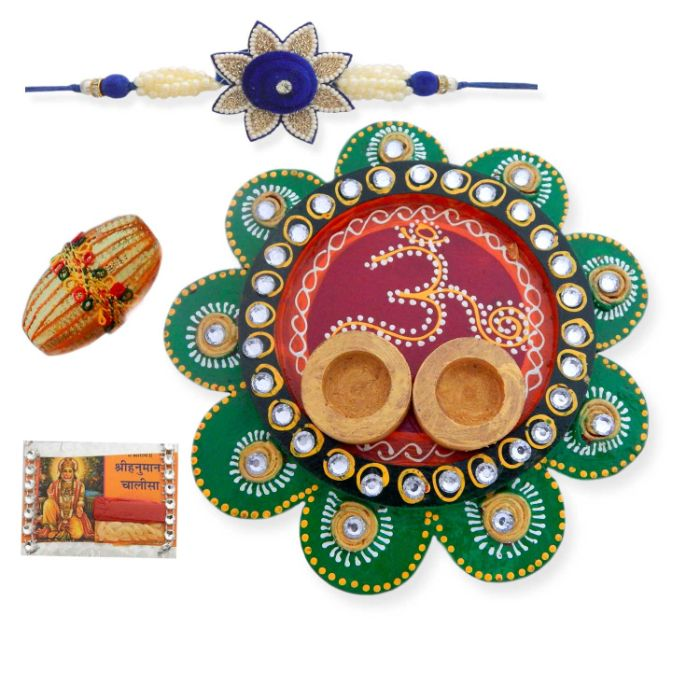 Om Flower Thali - USA Delivery Only