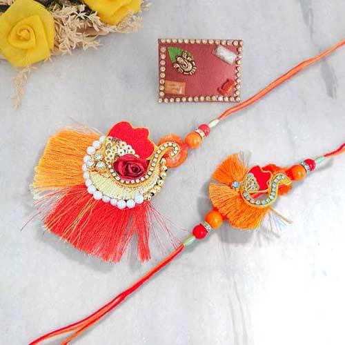 Bhaiya Bhabhi Rakhi Set Beautifully Designed