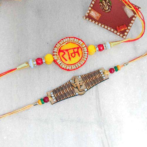 Auspicious Rakhi Set - Canada Delivery Only