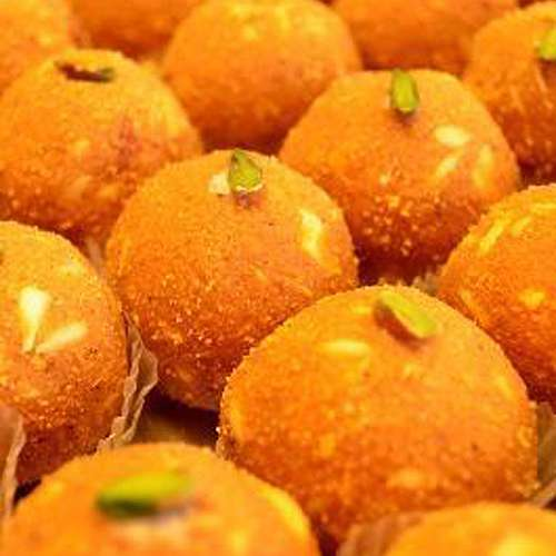 Besan Shahi Laddoo 1 kg - USA Delivery Only