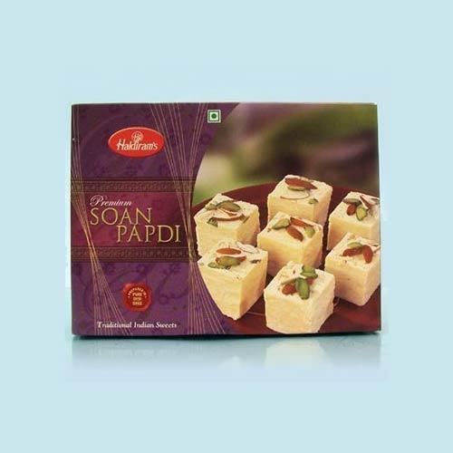Haldiram's Soan Papdi 750 gms with Rakhi - UK Delivery Only