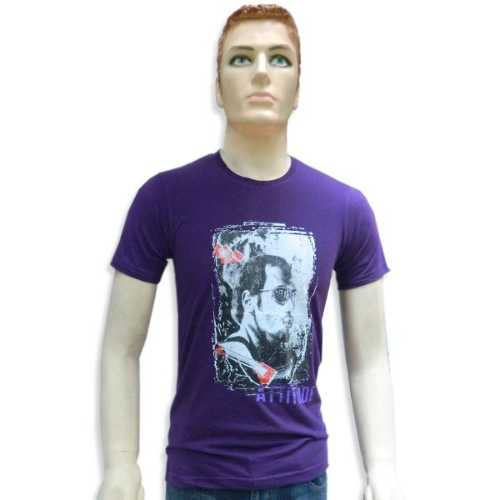 Round Neck Printed Men's T-Shirt - RK-11081